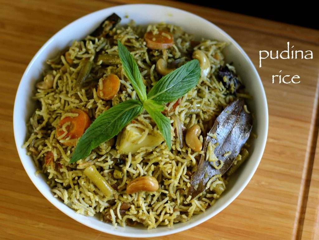 Mint Rice Recipe | Pudina rice recipes | Pudina pulao