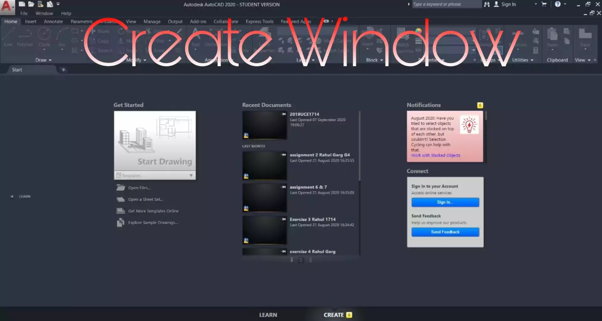 AutoCAD Create window