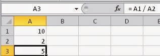Como dividir no Excel - Curso online grátis com certificado