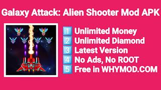 Game Galaxy Attack: Alien Shooter Mod APK