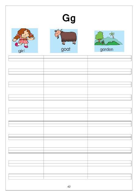 مذكرة رائعة لطفلك لتعليمه الحروف والارقام للغة الانجليزية واشياء اخري بسهوله ودقه
