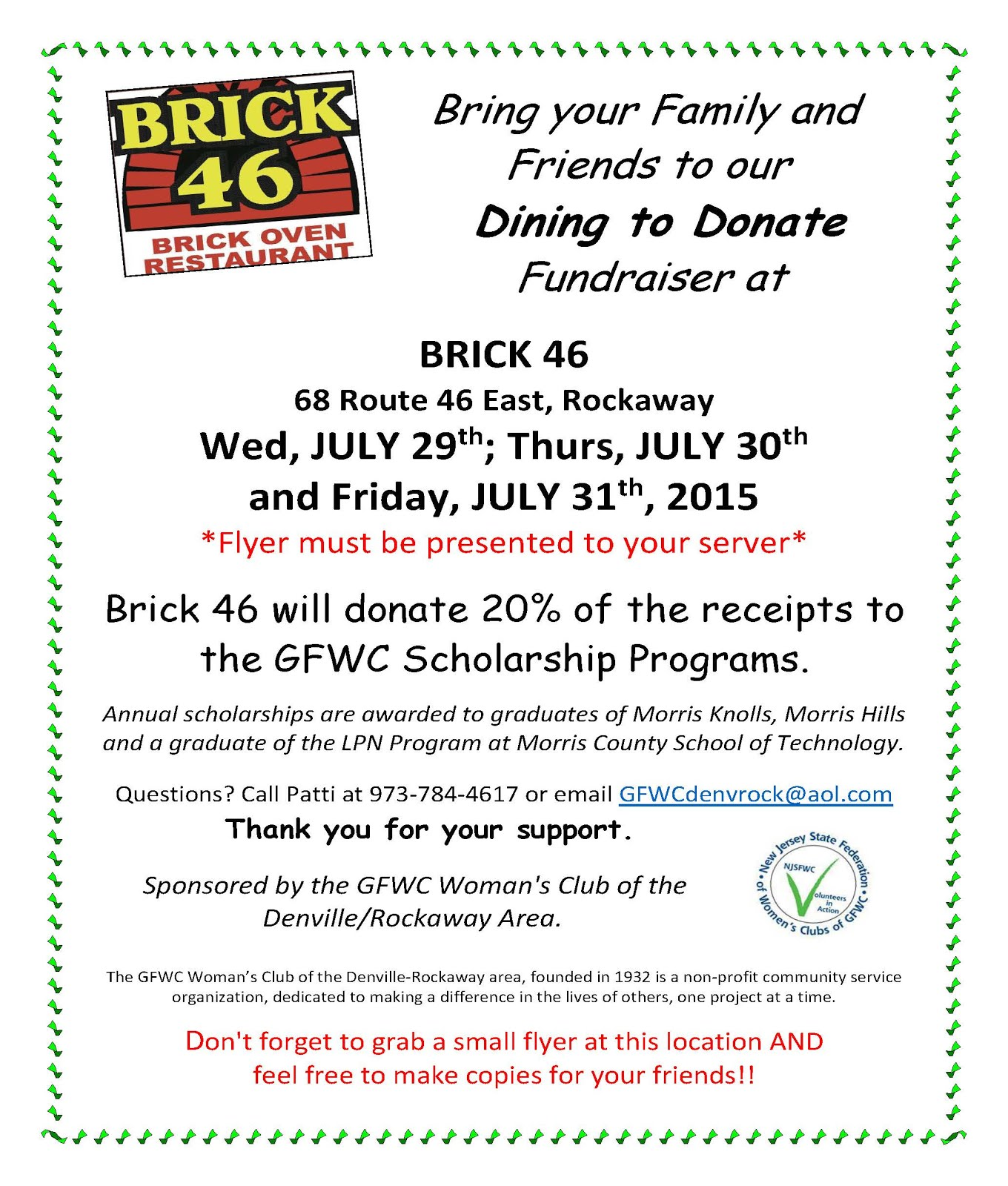 Dining to Donate at Brick 46