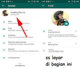 cara membuat foto profil whatsapp kosong