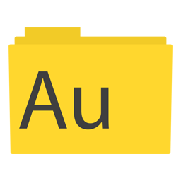 Preview of Audition, yellow, software, logo, folder icon