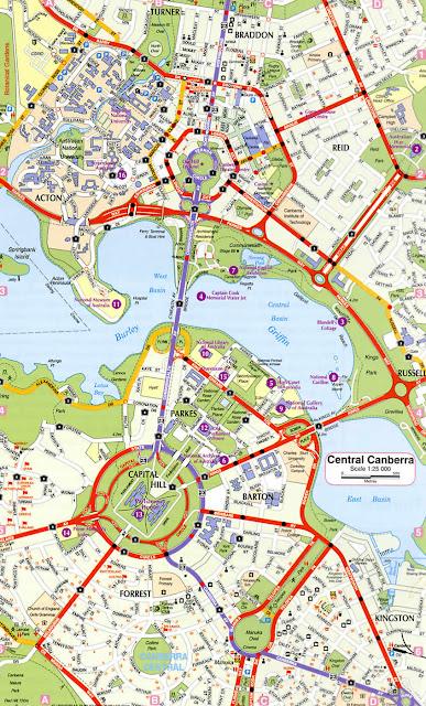 Camberra map