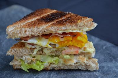 sandwich, panino, snack, pomodoro, uovo