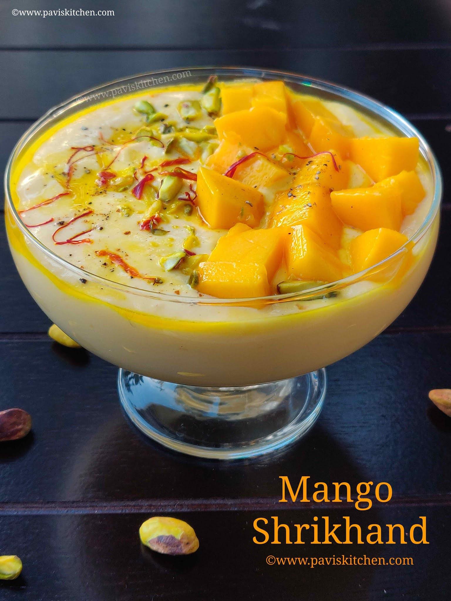 Easy mango shrikhand recipe | Instant mango shrikand | amrakhand recipe | Mango greek yogurt dessert