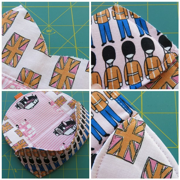 Glasses case - Tutorial by Thread Riding Hood - French seam