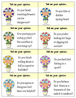 24 Opinion Task Cards for Spring