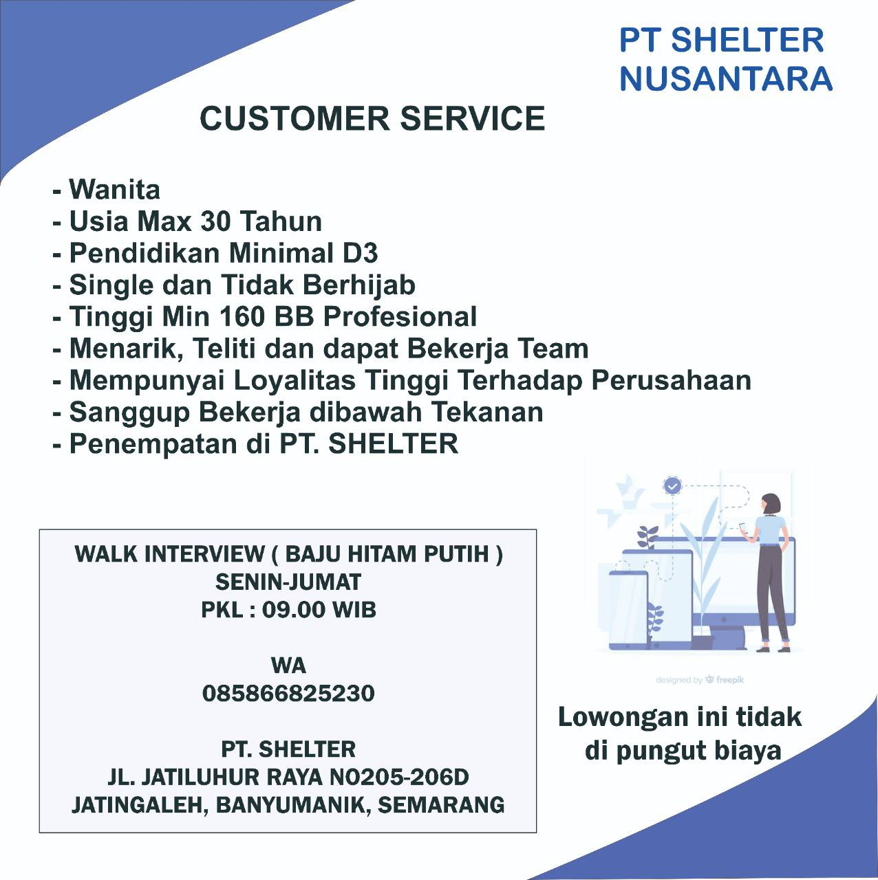 Dibuka kembali Lowongan Kerja PT Shelter Nusantara Semarang