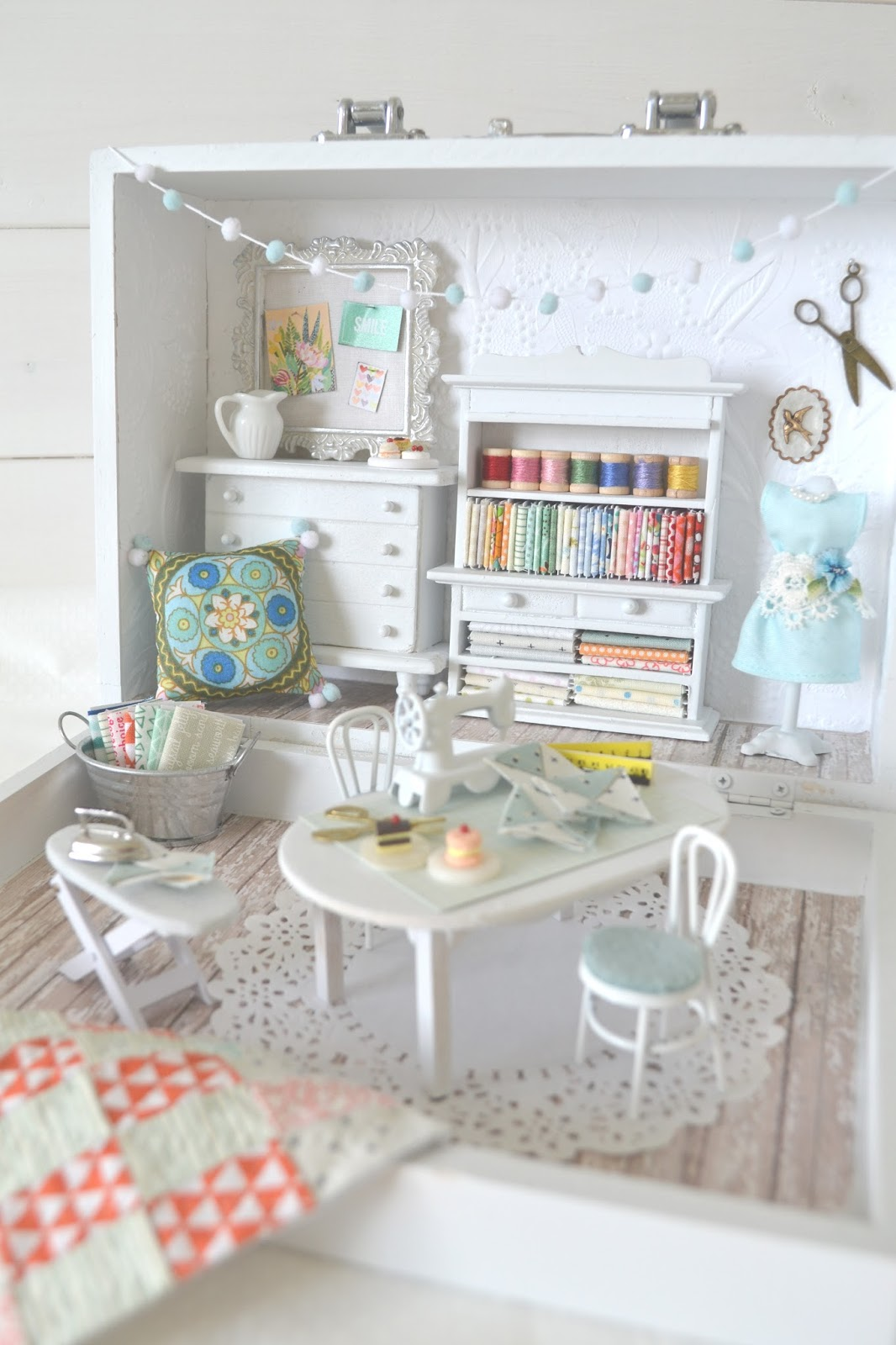 Sewing Room Designs: Big Reveal Of Small Sewing Room!