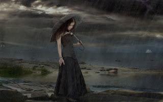 La mujer gótica en la noche