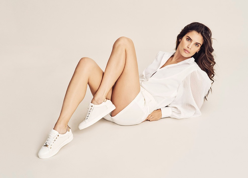 Model Sara Sampaio fronts XTI Shoes spring-summer 2020 campaign