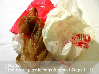 *Step 12. Find more plastic bags & repeat Steps 1 - 11.