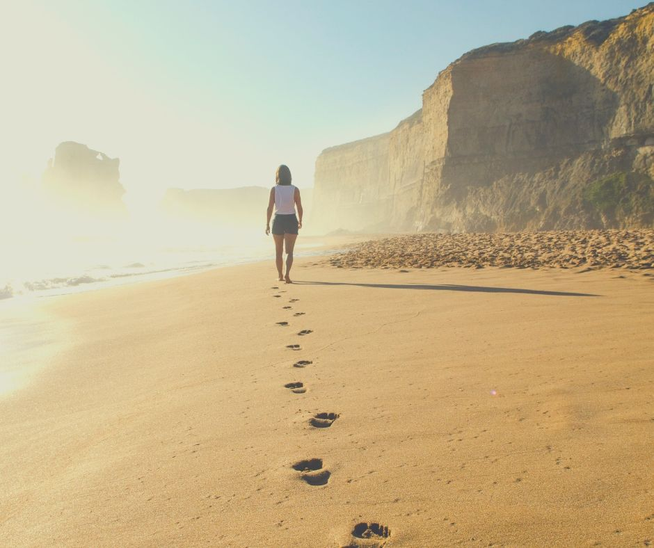 Summer Self-Care Bucket List For Mums | Walking along the beach is so soothing.