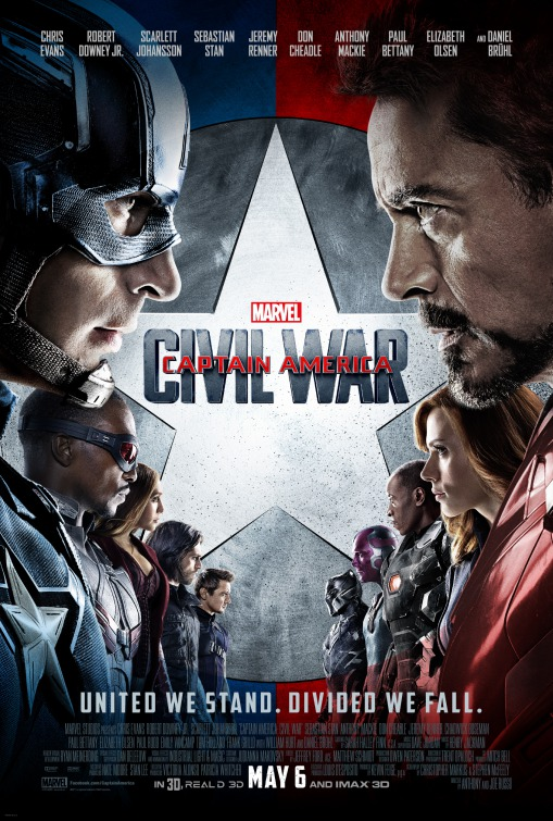Captain America Civil War film poster