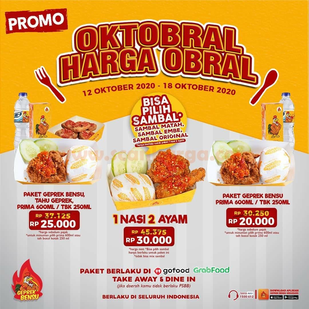 Geprek Bensu Promo OKTOBRAL Harga Obral mulai Rp 20.000