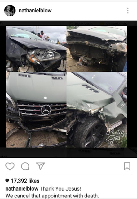The Halleluyah Challenge Convener Nathaniel Bassey Survived a Ghastly Auto Crash.