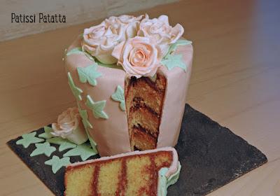 cake design, pâte à sucre, fleurs en pâte à sucre, modeling flowers, flowers pot cake, patissi-patatta