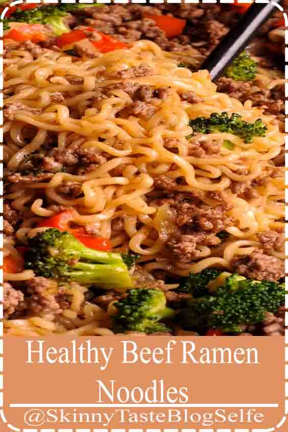 4.8 | ★★★★★ Beef Ramen Noodles Stir Fry is a healthy way to use instant ramen! #ramennoodles #stirfry #beef #Healthy #Ramen #Noodles