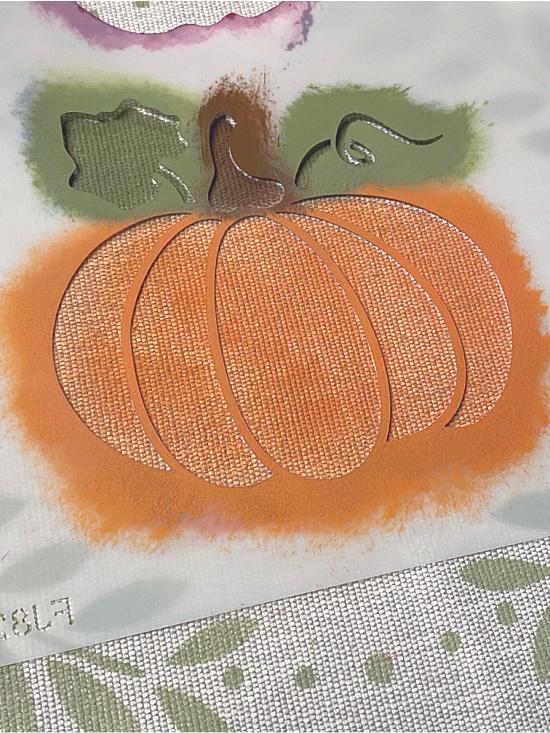 stenciled pumpkin