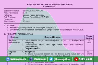 RPP Matematika Kelas 6 Tema 7 Semester 2 Revisi 2020 Format 1 Lembar