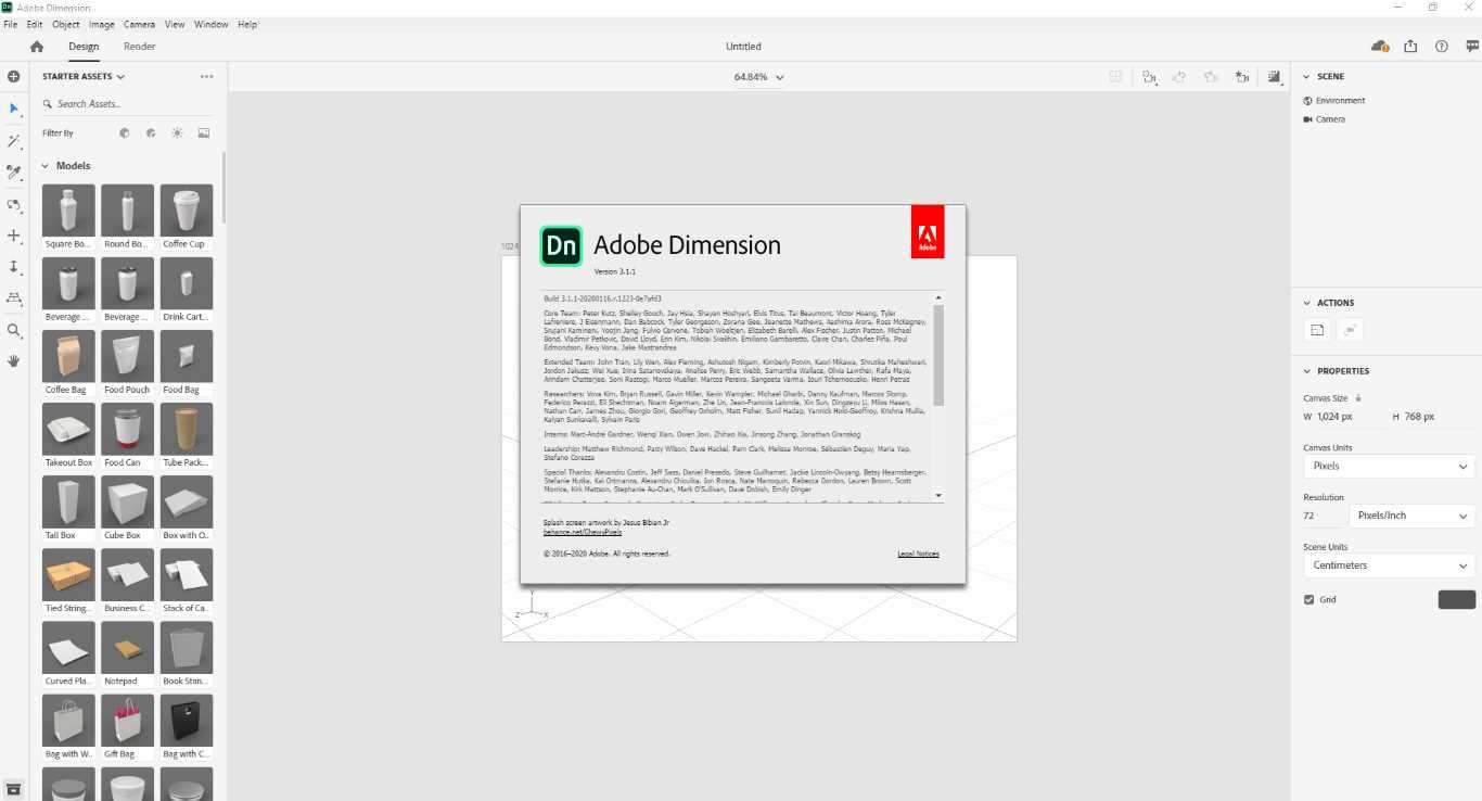 Adobe Dimension 2020 v3.1.1.1223 poster box cover