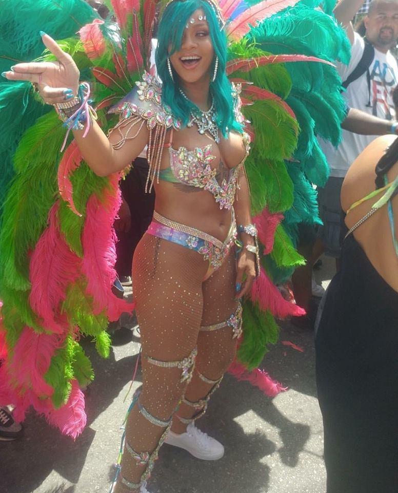 Rihanna, en Barbados. FOTO: Especial