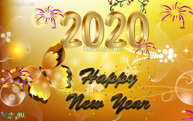 New Year 2020 Full HD Golden Background
