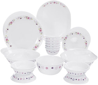 Corelle Livingware Floral Fantasy Dinner Set 30-Pieces Multicolor