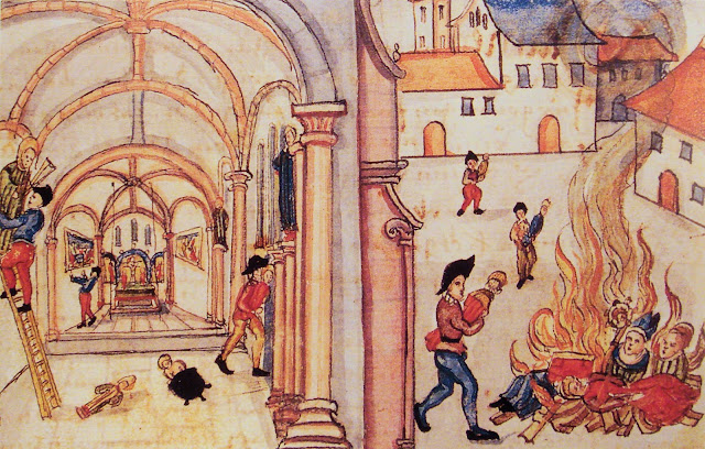 Painting of Destruction of Religion Images (Icons) in Zurich, 1524 / Creative Commons