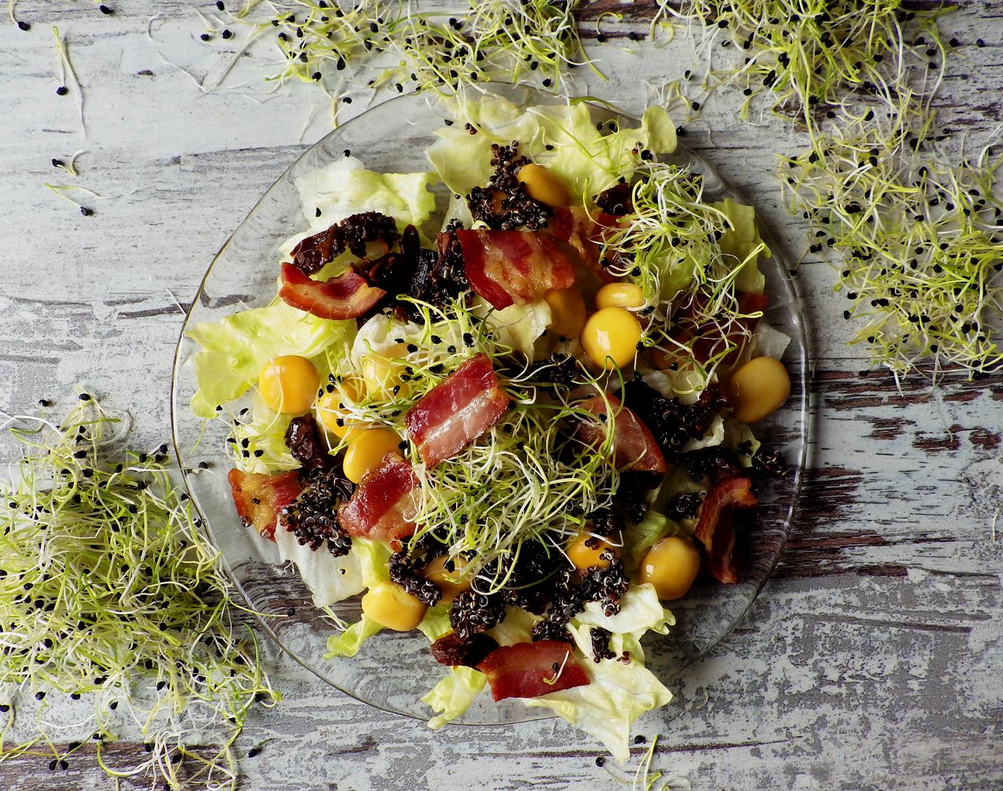 Quinoa Raz Salatka Z Boczkiem Lubinem I Czarna Quinoa