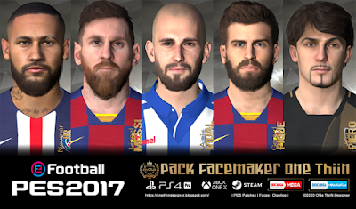 PES 2017 Facepack V1 by One