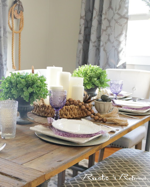 Creative Fall Tablescape with a hint of Fall that's not over done