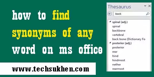 how to get synonyms on Microsoft word