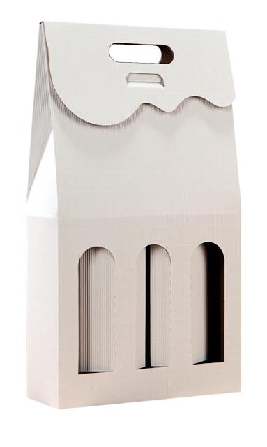 Pudełko kartonowe białe na 3 butelki