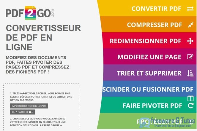 Pdf2go un nouvel outil en ligne pour diter et convertir - Convertir un fichier pdf en open office writer ...