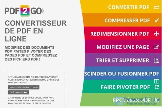 PDF2Go : un nouvel outil en ligne pour éditer et convertir des PDF