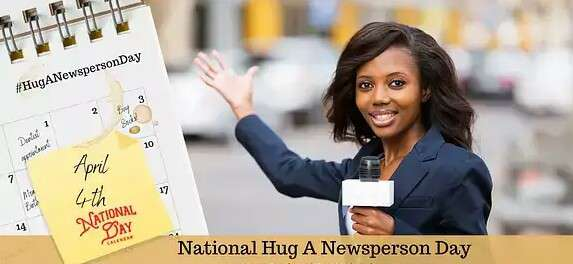 National Hug a Newsperson Day Wishes Beautiful Image