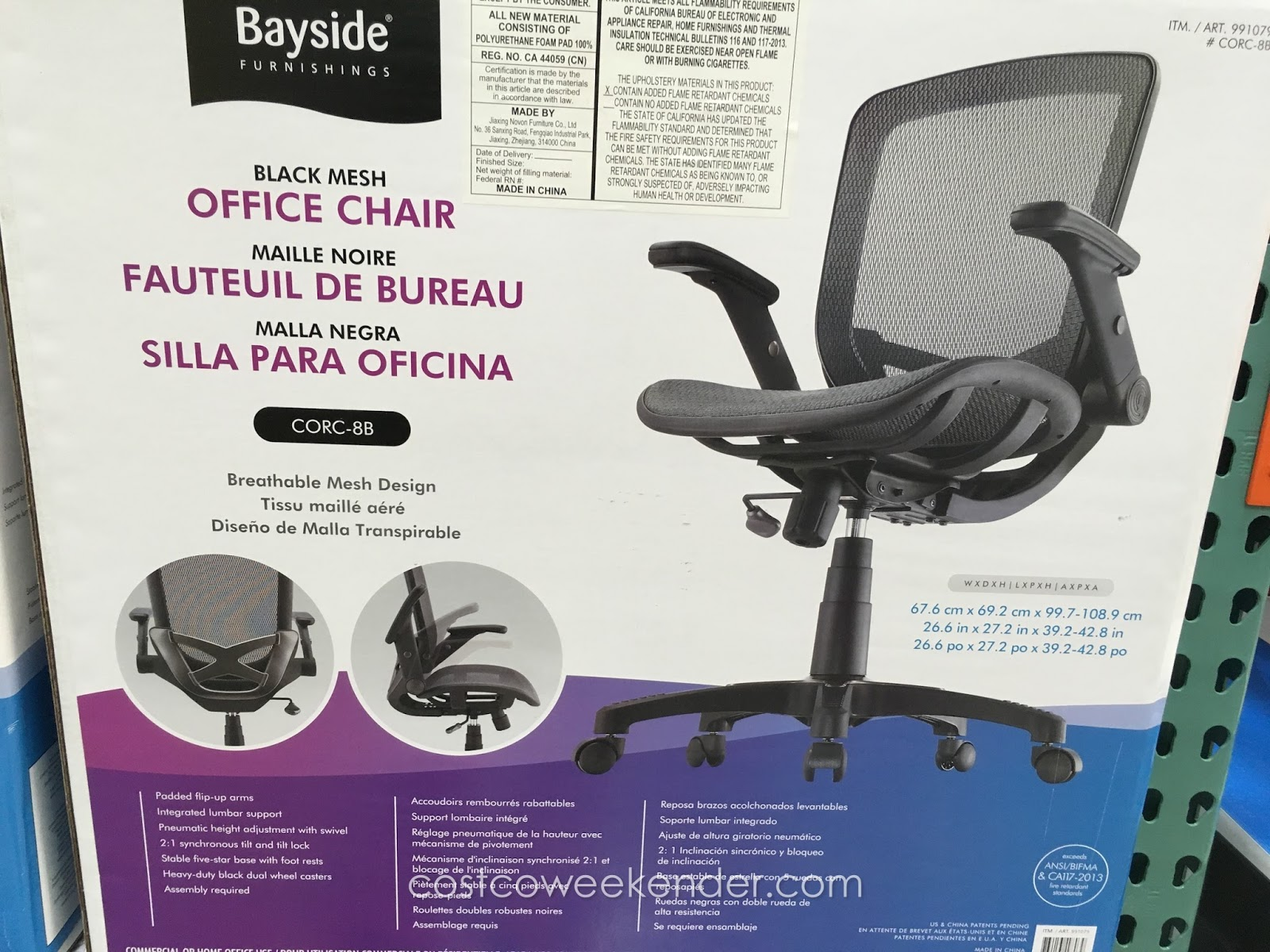 Bayside Office Chair Bayside Furnishings Corc 8b Metrex Ii Black Mesh Office