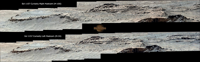 Sol 1157 Curiosity Left Mastcam (M-34) & Curiosity Right Mastcam (M-100) Pahrump Hills
