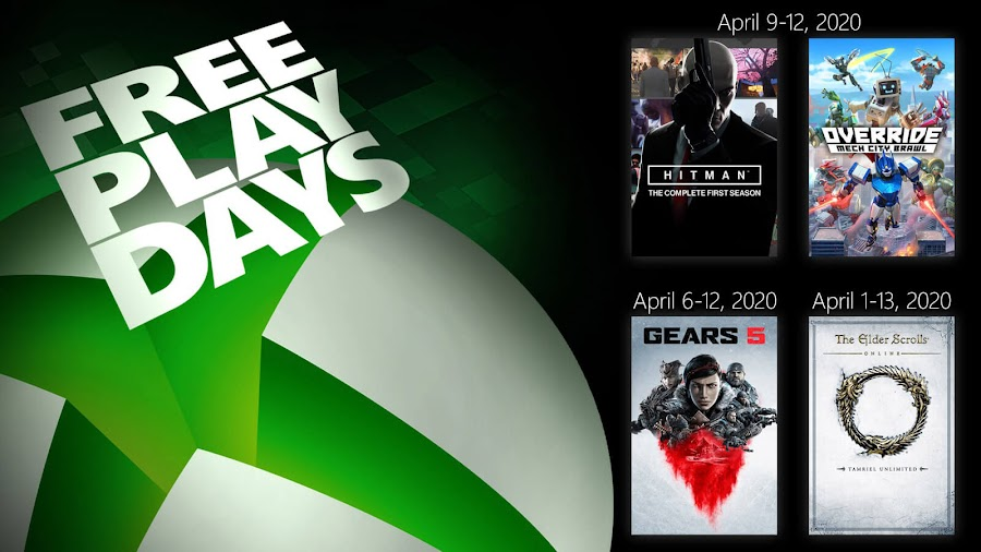 elder scrolls online tamriel unlimited gears 5 hitman season one override mech city brawl xbox live gold free play days event