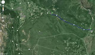 Trajeto detalhado de Corumbá/MS/Brasil a San José de Chiquitos/Bolívia - 380 km.