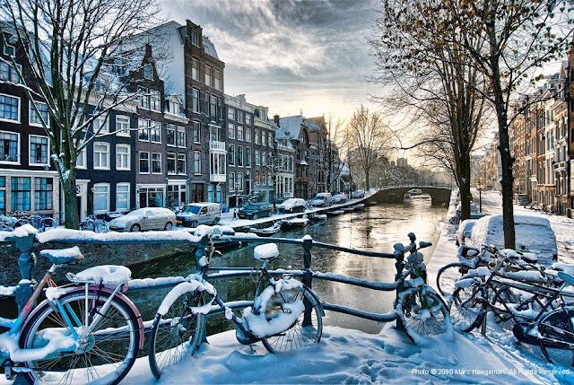 Inverno em Amsterdã