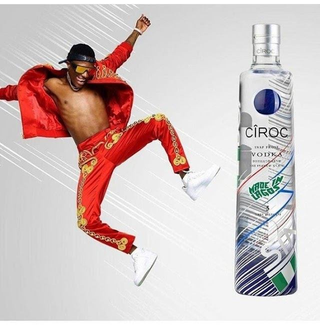 Wizkid Becomes The First African Artist To Have A Customize Ciroc Bottle