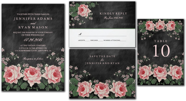 Wedding Invitation Png: Wedding Cards And Gifts: Chalkboard Wedding Invitations