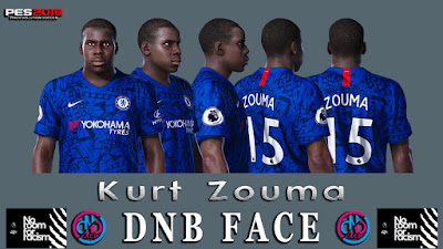 PES 2019 Faces Kurt Zouma by DNB