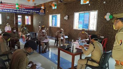 उरई में सर्किल नगर के थानों का थाना प्रभारी/उपनिरीक्षकों को लम्बित विवेचनाओं एवं पाक्सो एक्ट से सम्बन्धित विवेचनाओं का शीघ्र निस्तारण करने के निर्देश दिये   -पुलिस अधीक्षक जालौन                                                                                                                                                                                                                                                                                          संवाददाता, Journalist Anil Prabhakar.                 www.upviral24.in