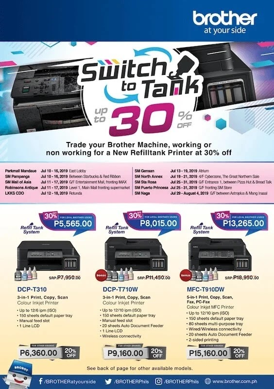 Trade in your machines with Brother printers for discounts