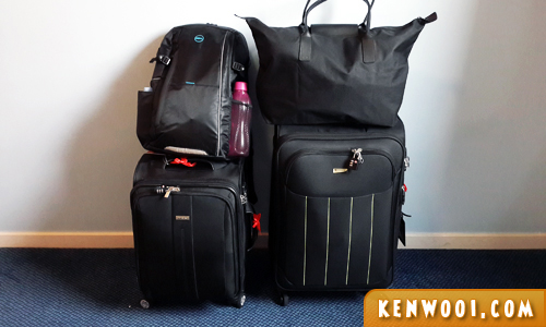 london travel luggage